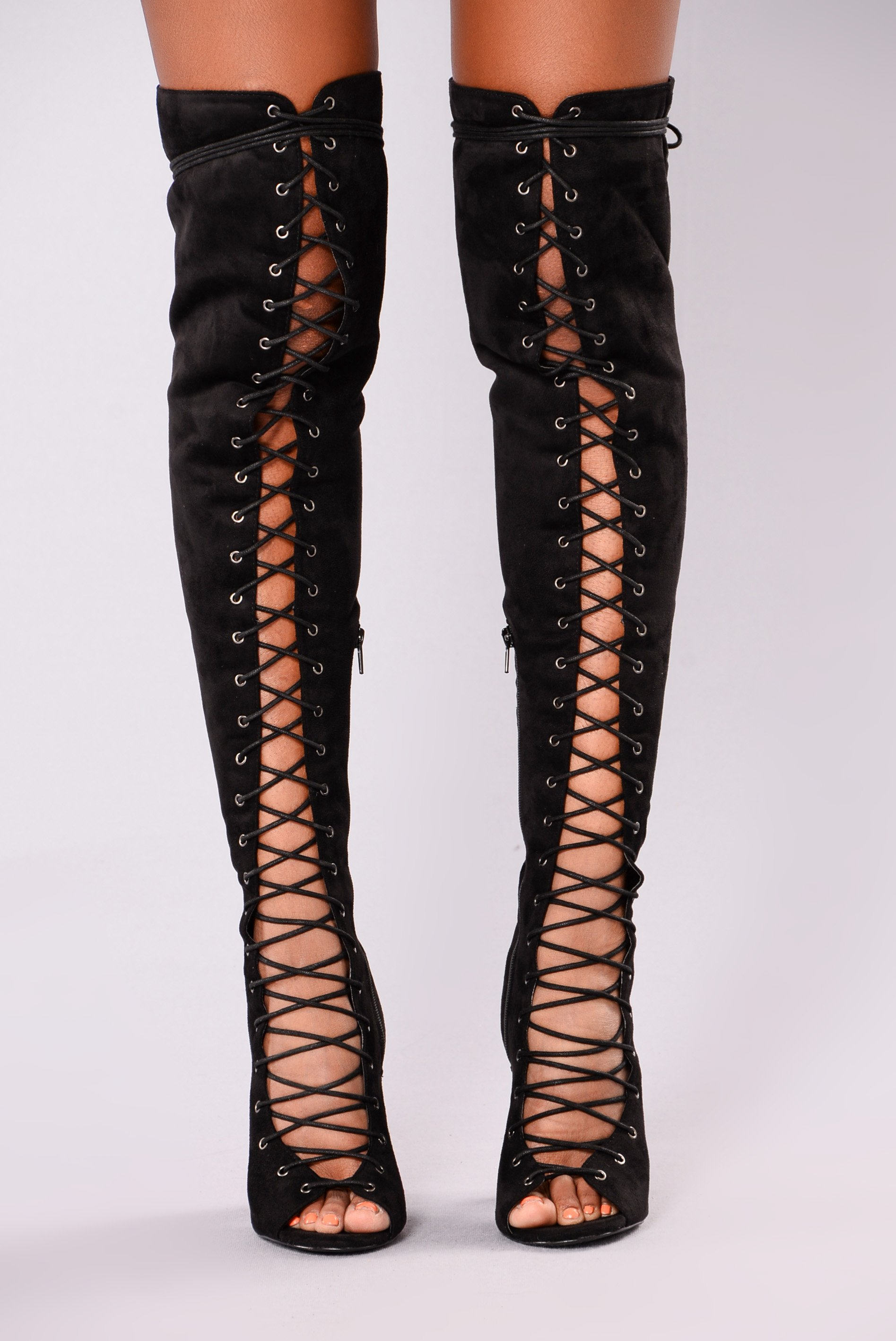 Barbie Lace Up Heel Boot _ Black _ Size 10 – Available after January 15th in Liberia